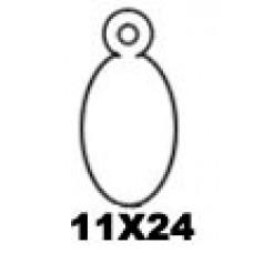 Hangetiket met koord 11x24mm 1000st Td35251124